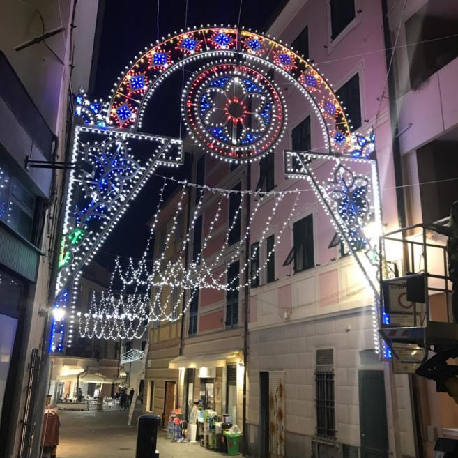 Luminarie centro strada